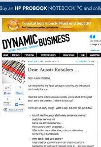 Nancy Georges' article in Dynamic Business