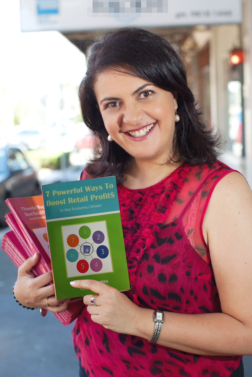 Nancy Georges author of 7 Powerful Ways To Bosst Retail Profits, in Any Economic Climate